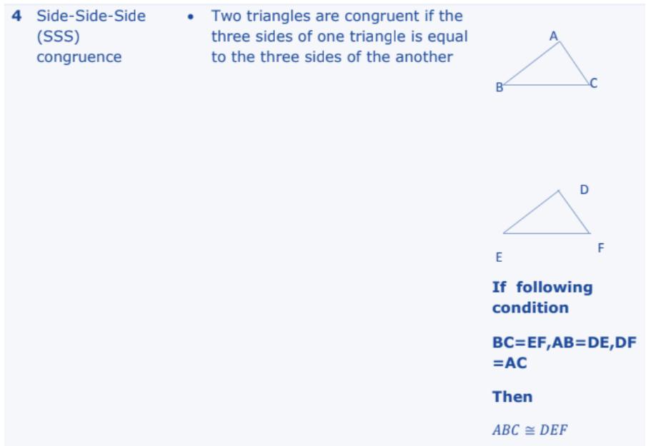 Triangles Formulas for Class 10 Q7