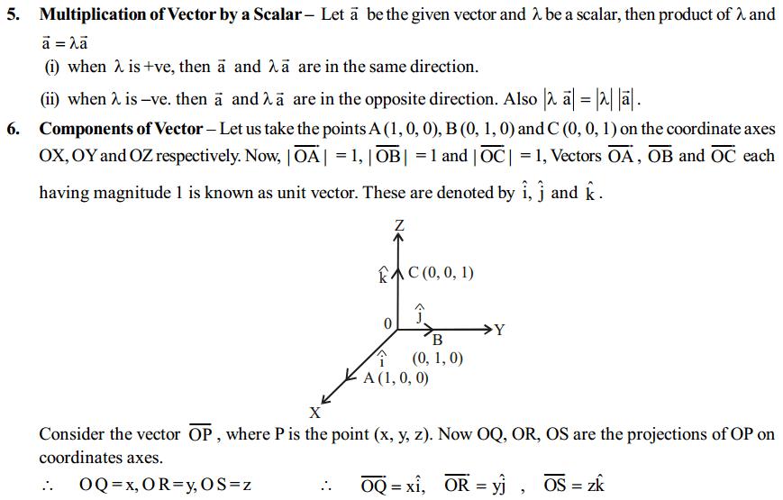 Vector Algebra Formulas for Class 12 Q4