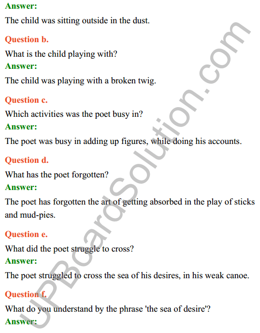 UP Board Class 8 English Solutions Rainbow Chapter 5 Play Things 2