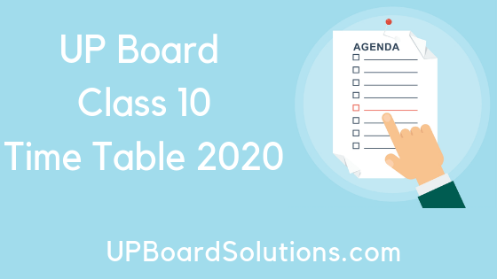 UP Board Time Table 2020 Class 12 (Released) | Detailed UP