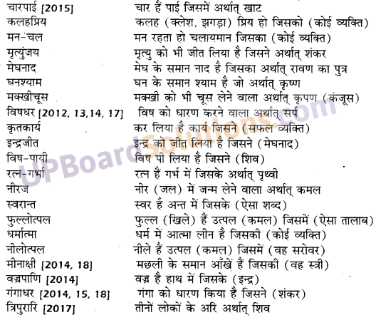 UP Board Solutions for Class 10 Hindi समास img-15