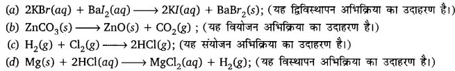 UP Board 10th Class Science Solution Chemical Reactions And Equations