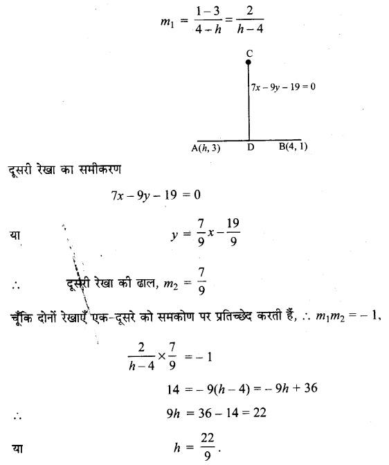 UP Board Solutions for Class 11 Maths Chapter 10 Straight Lines 10.3 10
