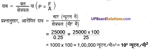बल तथा दाब Class 8 UP Board Science Chapter 11