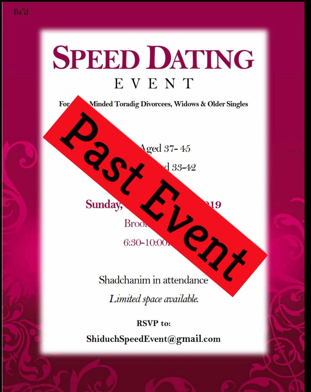 Rsvp speed dating events events