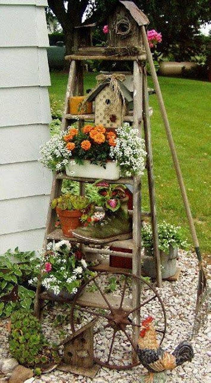 Re-purposed Garden Art Ideas | Upcycle Art on Garden Decor Ideas  id=80284