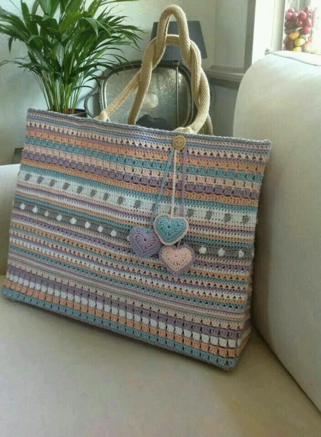 Crochet Hand Bags Pattern