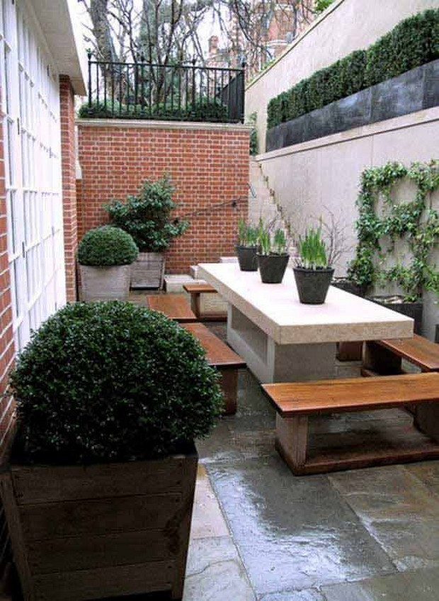 Ideas for Narrow and Long Patio Spaces   Upcycle Art on Long Patio Ideas id=67180