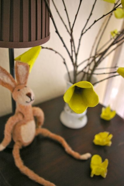 Pascua de cartón de huevo ideas del arte de huevo árbol de las ideas de reutilización formas crative flor diy upcycled