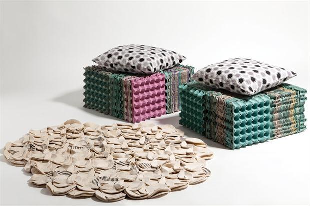 huevo ideas del arte cartón reutilizan almohadas de heces muebles para el hogar