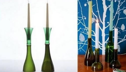 Upcycling botellas de vino decoración del hogar ideas inspiradoras de velas