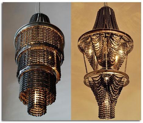 Lámparas de bicicletas recicladas bricolaje colgante lámpara del arte
