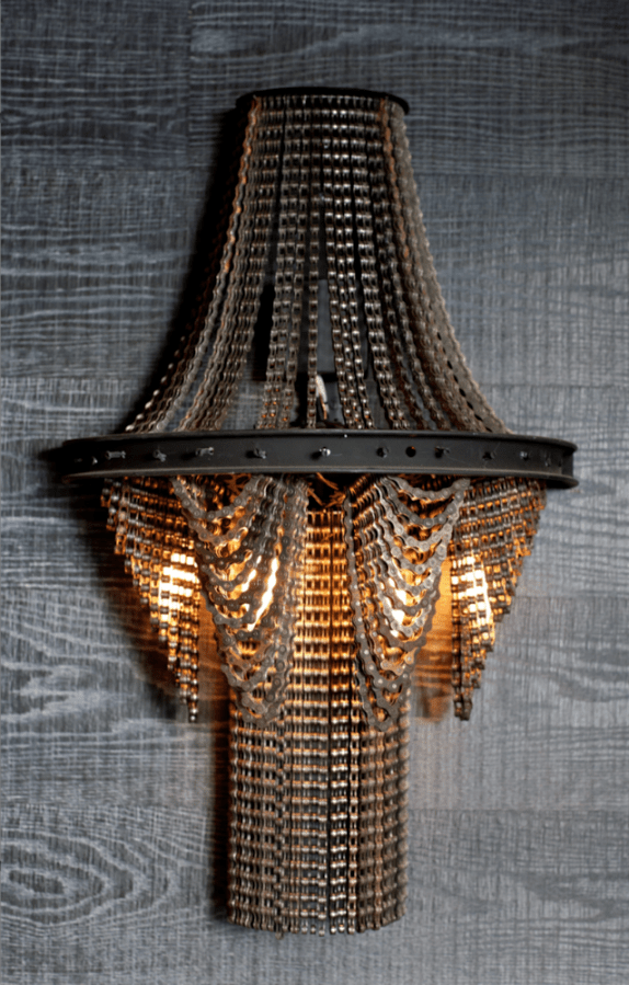 Cool Upcycling Design Recycled Bicycle Chain Chandeliers