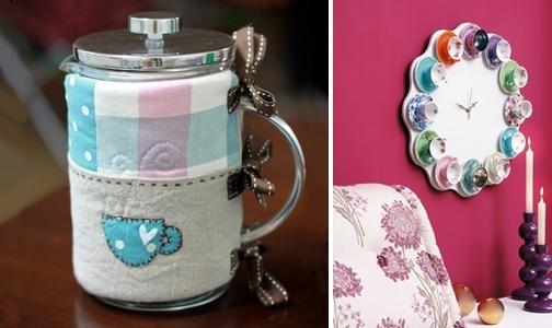 tazas de té reutilización creativa colorido reloj de pared de las ideas caseras fáciles