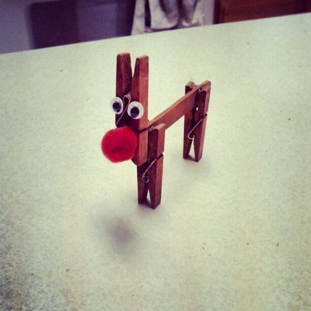 upcycling niños Ideas perro nave pinza de la ropa divertida proyecto de bricolaje