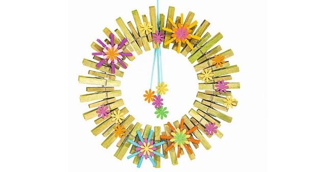 flores decoradas artesanía de pinza de ropa para adultos guirnalda linda bricolaje