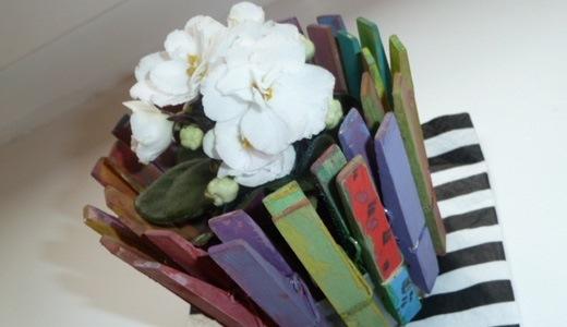 maceta de flores pinza de la ropa reutilizada fácil hecha a mano proyecto de bricolaje