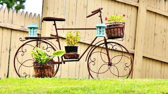 DIY-upcycling-motos-creativas-jardín-ideas-old-bicicletas