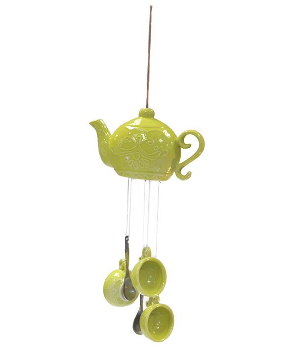 DIY viento carillón creativo idea casera olla de té Upcycling