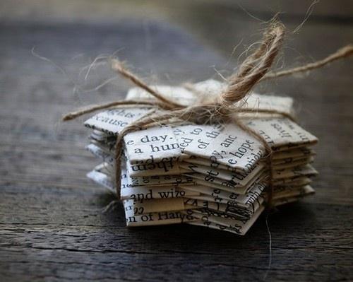 página del libro ornamentos de Navidad de la cuerda DIY Estrellas de papel de la cinta de ideas recicladas