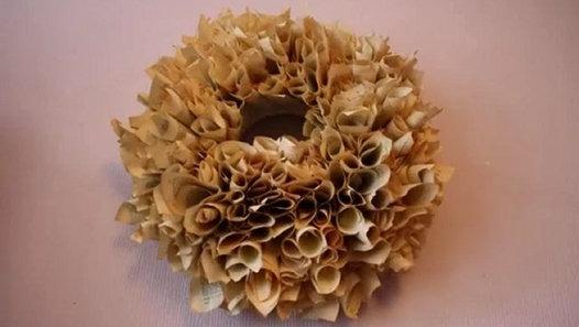 Libro de la paginación roseta pomander adornos de navidad viejas DIY bolas de papel Ideas upcycling
