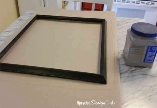 Sanded and painted frame