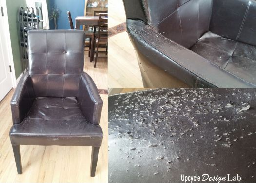 Before picture of damaged chair