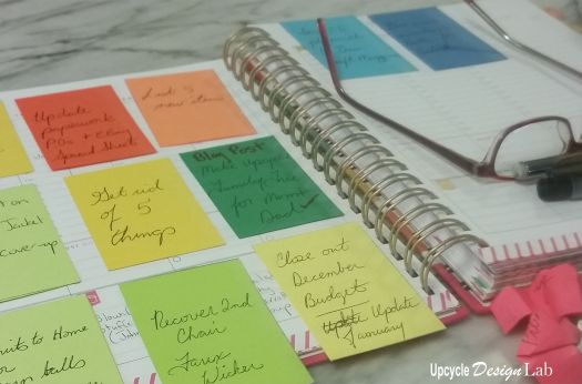 Upcycled Vertical Day Planner System