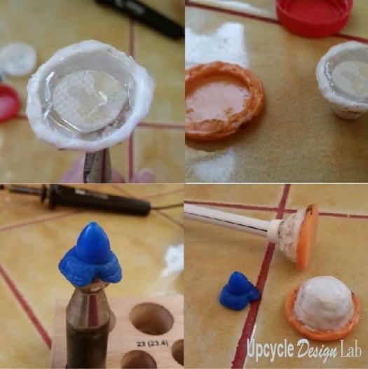 Plastic Bottle Cap Upcycling