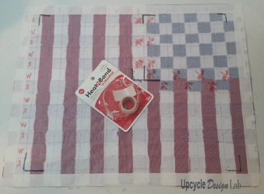 laying out the flag weave