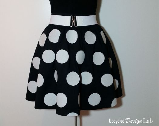No Sew Minnie Mouse Skirt Makeover