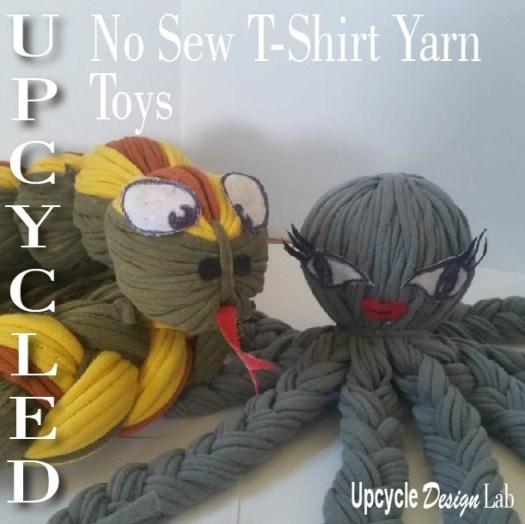 no sew t-shirt yarn toys