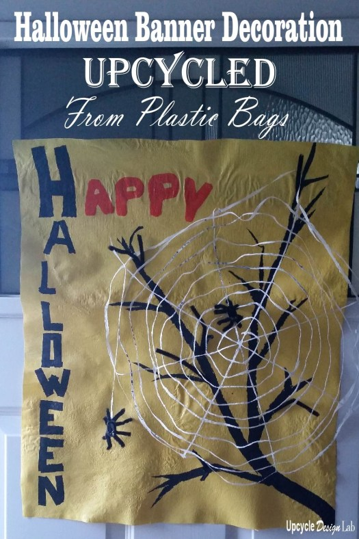 How to make an upcycled Halloween Banner