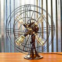Vintage Fan Lamp by Dan Cordero