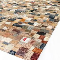 Hunter Leather Rug by Trash Garden