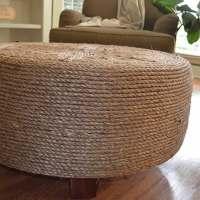 DIY: Tyre Ottoman by Nikki