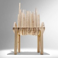 PETROGLYPH: reclaimed plywood boards furniture by Nucleo