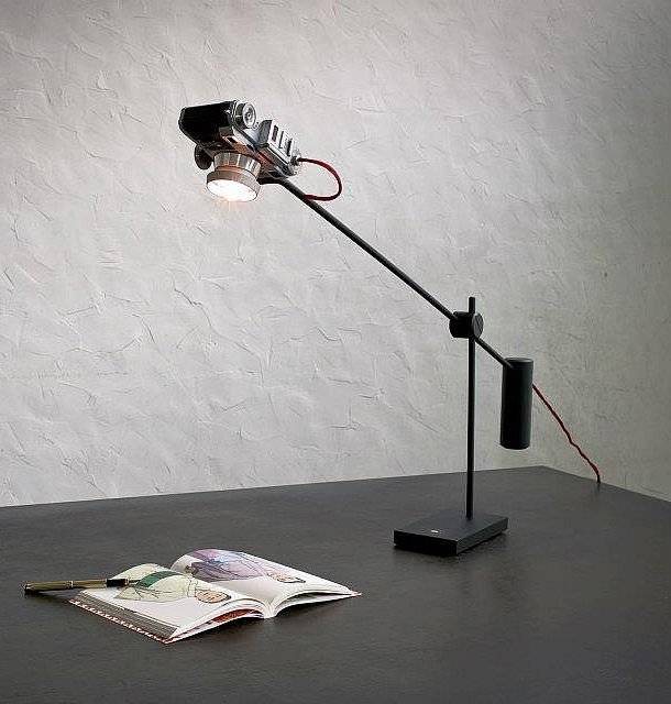 Vintage Camera Upcycled Into Desk Lamps By YStudio