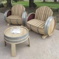 Wine Barrel Furniture by Balk en Plank