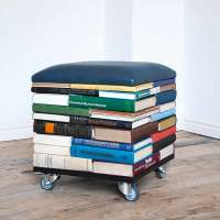 BookPouf: stacked books furniture by Sledgecorner