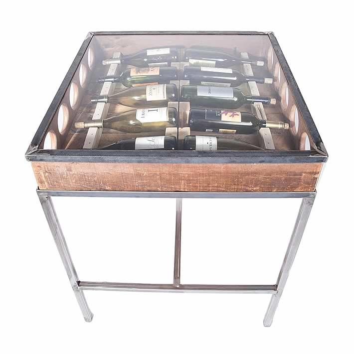 Wine Rack Bar Table By Michael Graham Designs   UpcycleDZINE