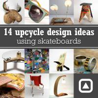 14 upcycle design ideas using skateboards