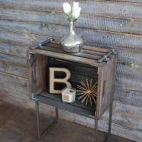 DIY: Industrial Side Table made out of a Crate by Bre Bertolini