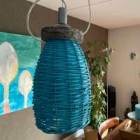 DIY: Wicker planters turned into eco friendly lampshades