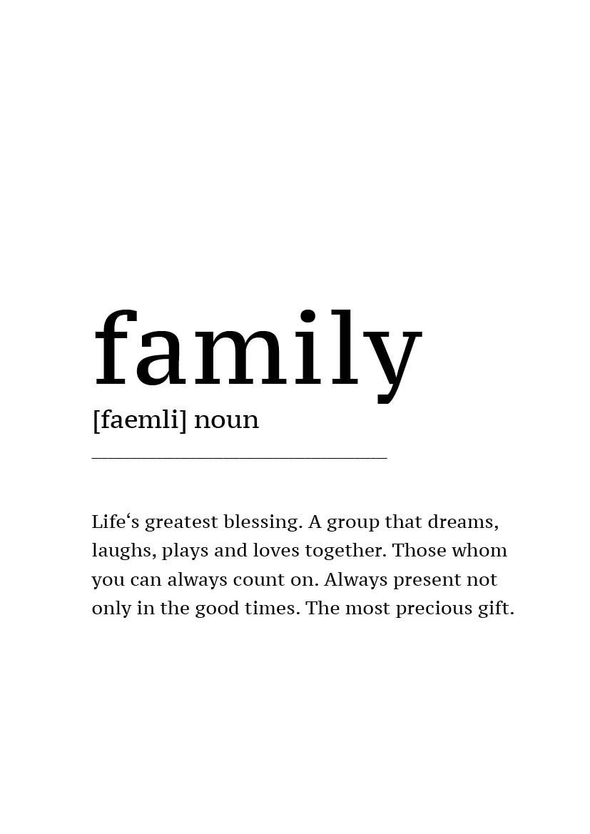 Poster 'Definition Family'