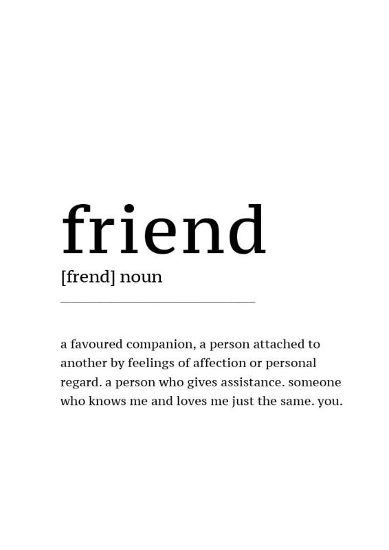 Gratis Poster download Defintion Friend