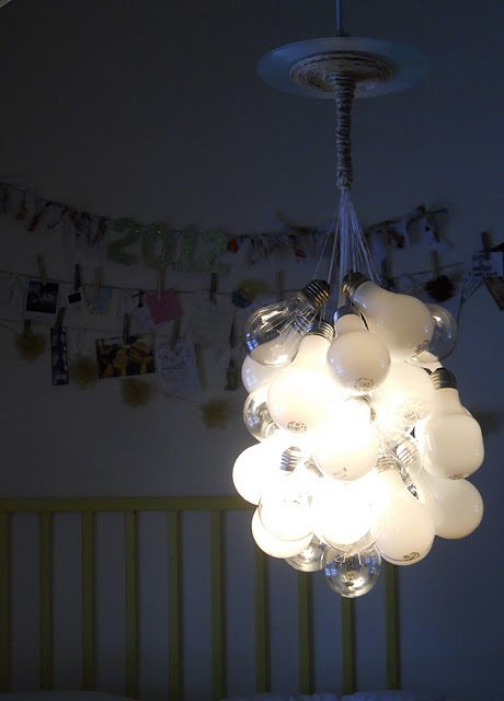 Light bulb chandelier upcycle that related aloadofball Choice Image