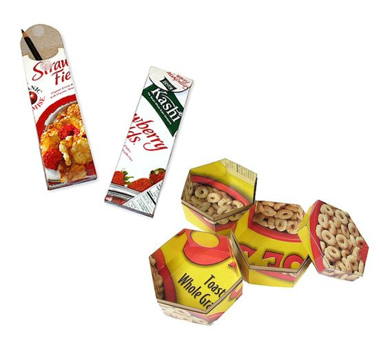 2 ways to upcycle cereal boxes