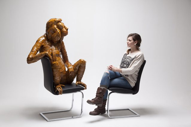 cardboard animal sculptures
