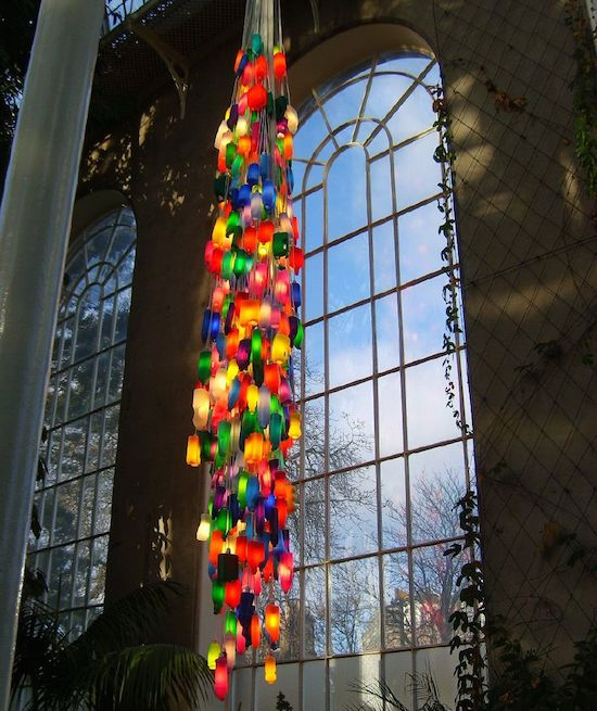 Plastic Bottle Installation Upcycle That